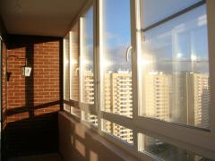Plastic window on the Rehau loggia from Design Plast®