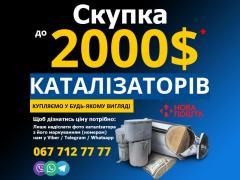 Purchase of catalysts and soot filters from cars